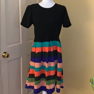 Only worn once! Black and Striped Skirt Amelia